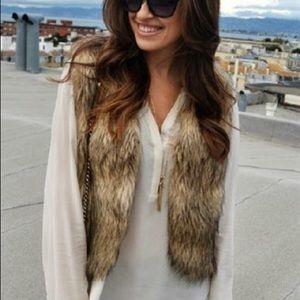 2/$20 Crop Faux Fur Vest
